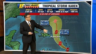 Next Hurricane Karen threatening Caribbean