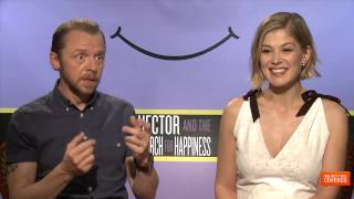 Hector and the Search For Happiness Interview With Simon Pegg and Rosamund Pike [HD]