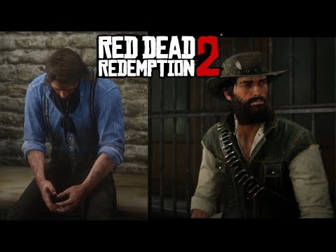 All Mr.Marston And Arthur Secret Jail Breakout Cutscenes Red Dead Redemption 2