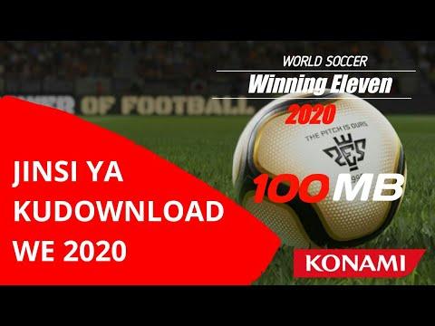 Jinsi Ya Kudownload WE ( Winning Eleven ) 2020 || How To Download WE 2020