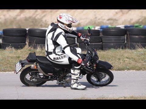 Kawasaki D Tracker 125 exhaust sound compilation