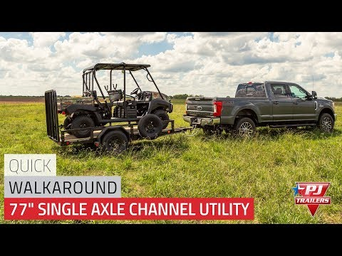 2021 PJ Trailers 77 in. Single Axle Channel Utility (U7) 12 ft. in Montezuma, Kansas - Video 1