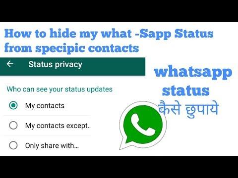 How to use Whatsapp Status privacy    whatsapp status में
