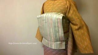 【着付師】タオルで作る帯枕(3)タオルの帯枕のお太鼓結び(着姿)