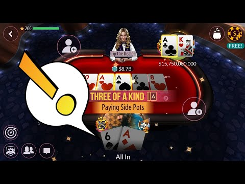 Lets play with 10B chips!! zynga poker 250/500m blinds