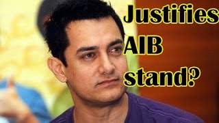 AIB Controversy Aamir Justifies His Stand Was For A Beautiful Young Girl  TOI