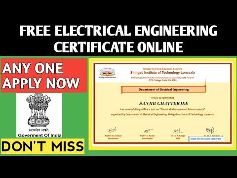 Electrical Engineering Free 10 Certificate   Free Online Certificate ...