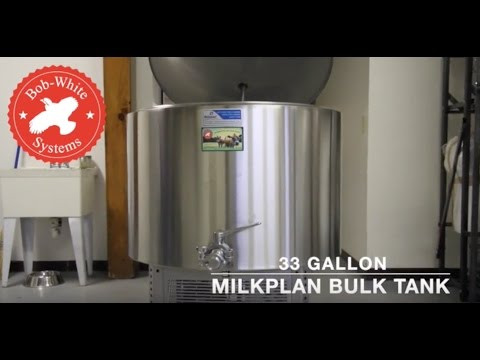 Milkplan Bulk Tank from Bob-White Systems 33 Gallon Milkplan Bulk Tank