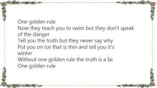 Chris Rea - One Golden Rule Lyrics