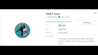 New Swat Gear Roblox How To Get Free Riot Police Game Pass