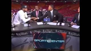 Lebron Handshake w  Magic & Jalen Rose Vs  White Guy