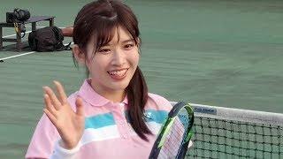 AKB48チーム8・佐藤朱@亜細亜大学・日の出キャンパステニスコート181007