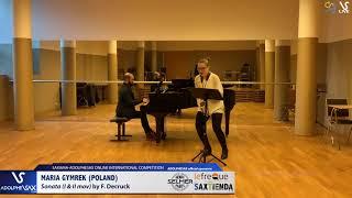 Maria GYMREK plays Soanta en Ut by F. Decruck #adolphesax