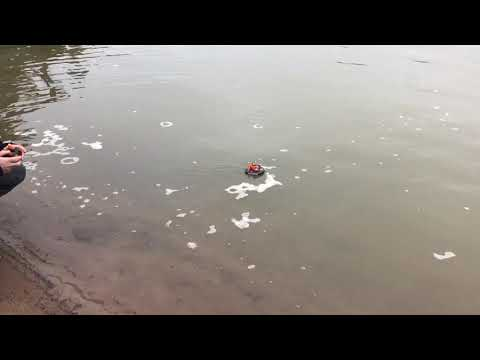 Snow and water fun with the Eachine E016F toy hovercraft