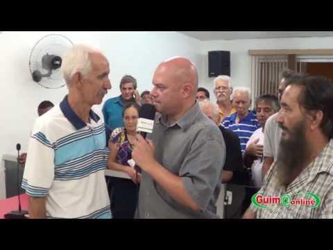 Manifestação em Guimarânia 11/04 - Sr. Lazaro Quinka e Chefe falam ao Portal Guimaonline.