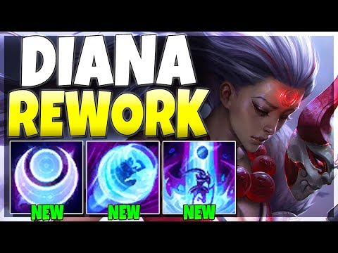 Riot Reworked Diana But It's SUPER OP NOW!! - Diana Rework Gameplay - League of Legends