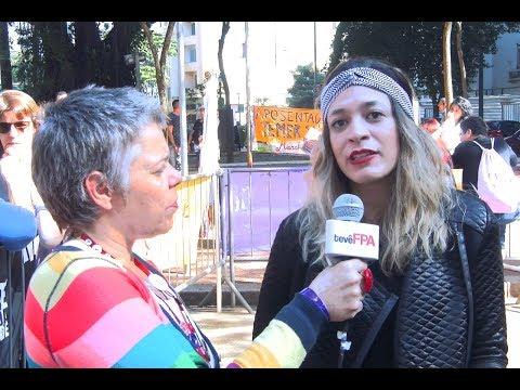 Mulheres pelas diretas e por direitos   Entrevista com Laryssa Sampaio