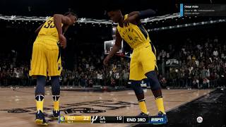 NBA LIVE 19 Xbox One X Gameplay Match Complet Indianapolis Pacers - San  Antonio Spurs ab43c77d2