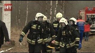 В Кречевицах прошла тренировка сотрудников службы пожаротушения УМЧС и Новгородского лесхоза