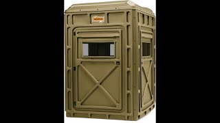 Terrain Edge Assembly And Review- 4x4 Plastic Panel Deer Hunting Blind Box