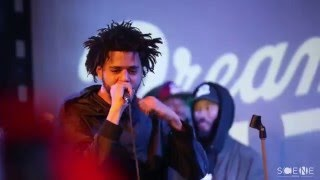 """J Cole Performs """"Folgers Crystal"""" & """"Back To The Topic Freestyle"""" at SOBS's"""