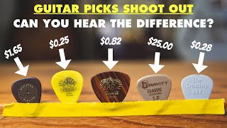 Guitar Pick Shootout: $25 Vs 25¢! The Easiest Way To Improve Your Guitar Tone And Playing.
