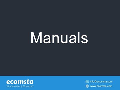 Manuals - eCommerce Script