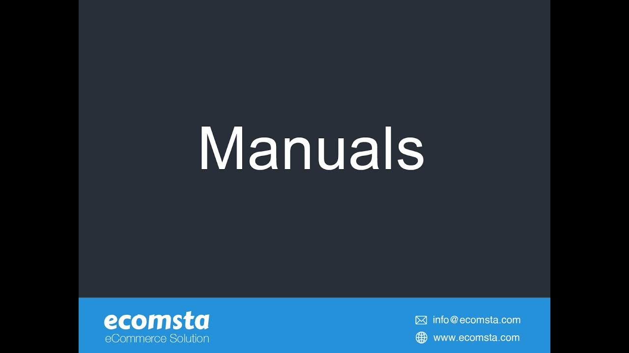 How to create user manuals, online guides, and help files in eComsta?