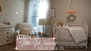 BABY'S ROOM TOUR// BABYGIRL NURSERY // BOHO-CHIC DECOR