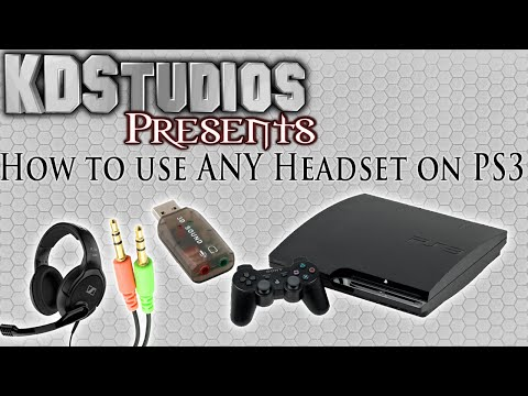How To Use ANY 3.5mm Microphone Headset With The PS3 - USB Sound Card