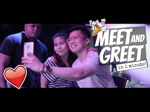 MEET AND GREET!! (in ONE MINUTE) ❤️🎉😭