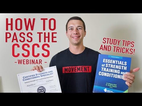 How to Pass the NSCA CSCS Exam! Study Tips and Tricks Webinar ...