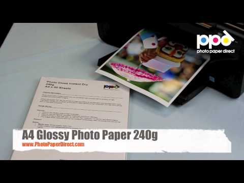 A3 and A4 Glossy Photo Paper 240g
