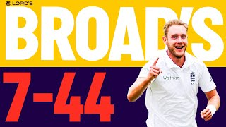 Stuart Broad's Brilliant 7-fer! | Best Ever Lord's Figures | Lord's
