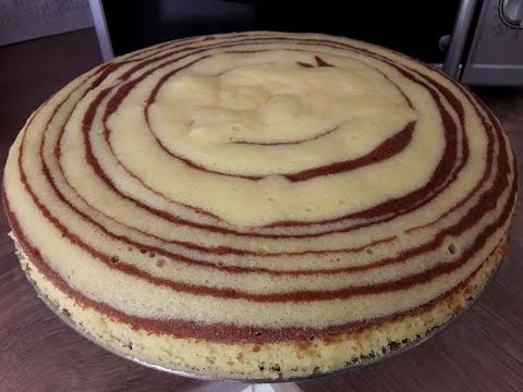 "Resep "" Cake Zebra Kukus Sederhana Rendah Gula. "" ( Simple Steamed Zebra Cake Low-sugar)"