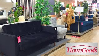 HOMEGOODS FURNITURE SOFAS COUCHES ARMCHAIRS HOME DECOR SHOP WITH ME SHOPPING STORE WALK THROUGH
