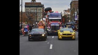 Optimus Prime truck leads as Grand Marshal for 2017 Santa Parade