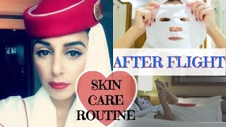 My After-Flight Skin Care Routine  ✿ Emirates Cabin Crew | Yas & Nab