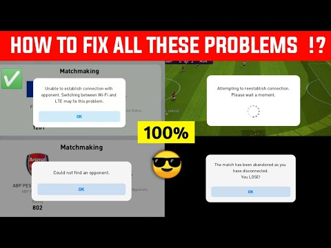 HOW TO FIX ALL ONLINE MATCH CONNECTION PROBLEMS IN PES 2021 MOBILE