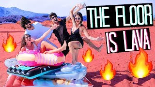 THE FLOOR IS LAVA CHALLENGE 🔥AIUTO! LA SPIAGGIA è LAVA !!! ft. Luca and Katy | Adriana Spink