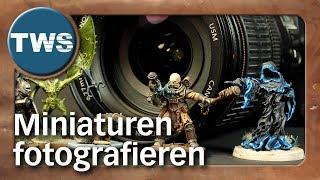 Tutorial: Miniaturen fotografieren / how to take pictures of miniatures (Tabletop-Zubehör, TWS)