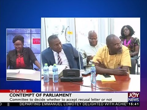 Contempt of Parliament - The Pulse on JoyNews (3-7-18)