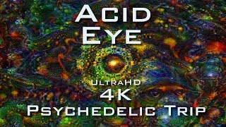 PSYCHEDELIC ACID EYE 4K - Deep Dream Fractal Trip - LSD DMT Mushroom Ayahuasca