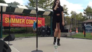 "Christina Grimmie singing ""Over Overthinking You"" at East Hills"