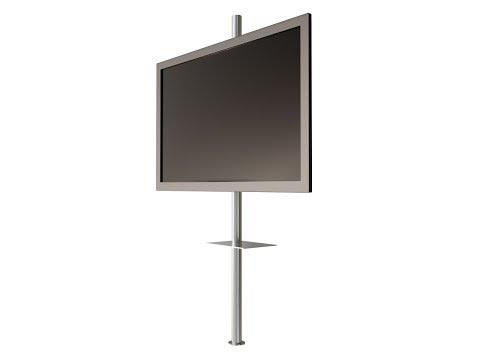 Drehbare Design TV Säule mit TV Halterung CMB-245 | CMB-Systeme.de