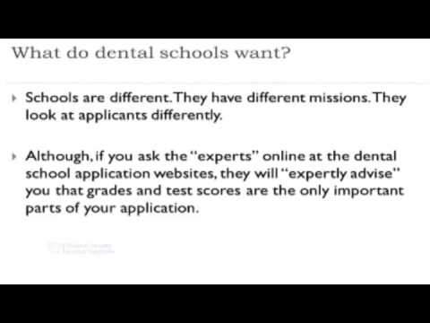 What U S  Dental Schools Are Looking For - Playing