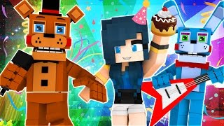 Minecraft Babies - FUNNEHS BIRTHDAY PARTY AT FNAF! (Minecraft Roleplay)