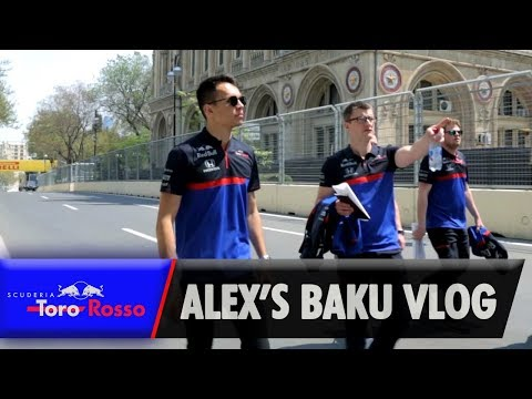 Image: Watch Alex Albon's Baku vlog!