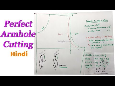 Perfect armhole cutting tips for beginners DIY Hindi tutorial easy method