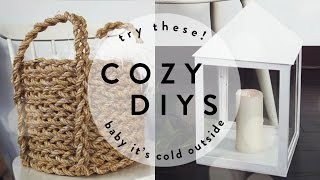 COZY DIYs YOU NEED IN YOUR LIFE! | THE SORRY GIRLS